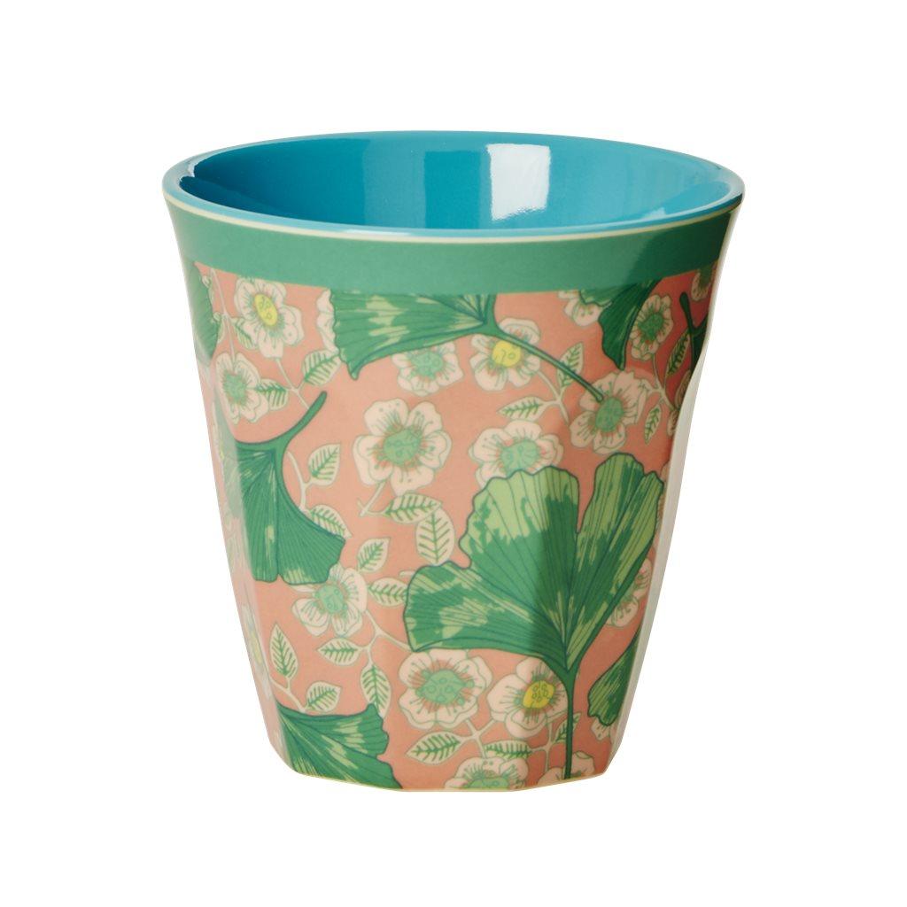 rice becher leaves and flower medium rosa gr n streu glitzer drauf. Black Bedroom Furniture Sets. Home Design Ideas